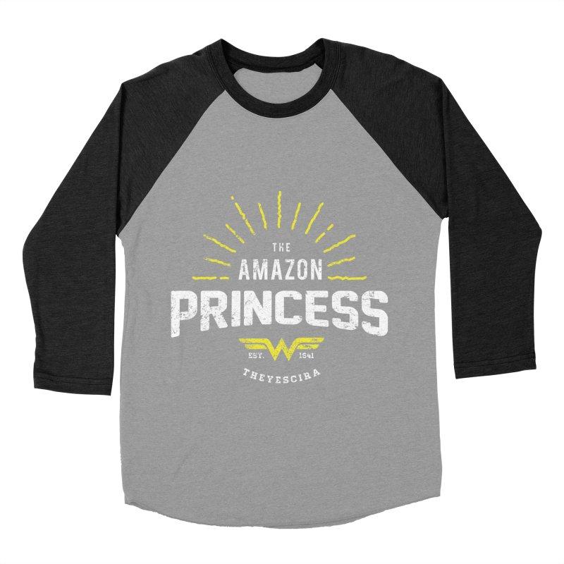 Vintage Amazon Men's Baseball Triblend Longsleeve T-Shirt by halfcrazy designs