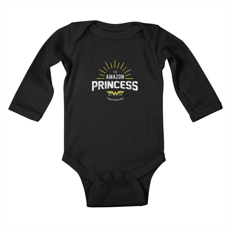 Vintage Amazon Kids Baby Longsleeve Bodysuit by halfcrazy designs