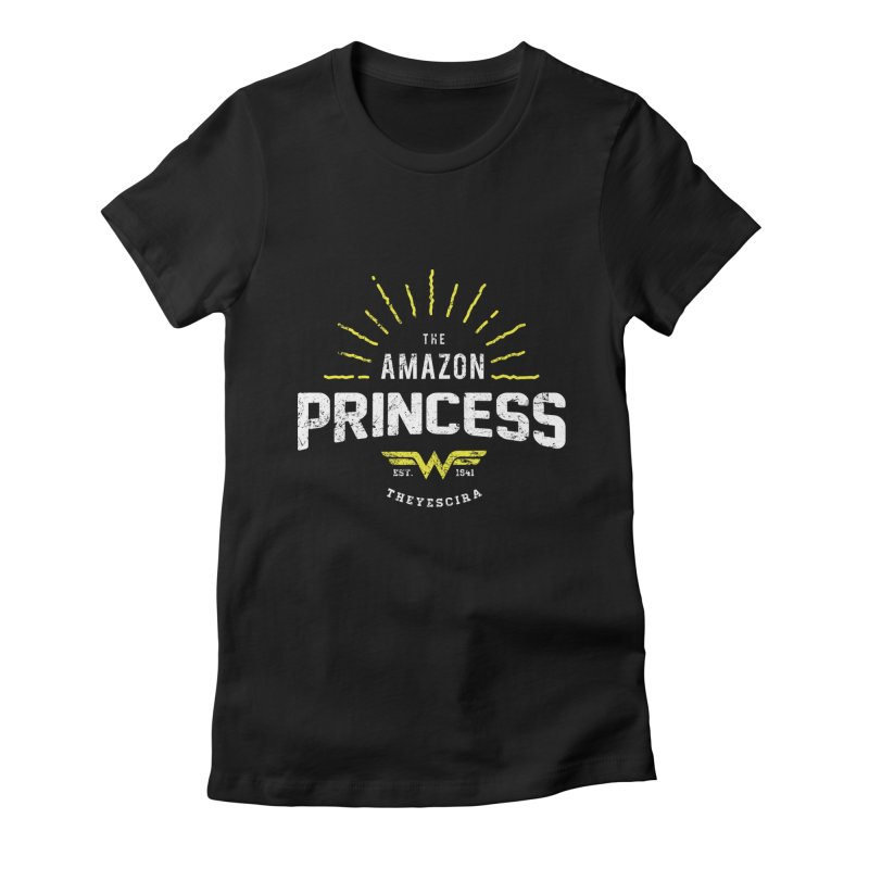 Vintage Amazon Women's Fitted T-Shirt by halfcrazy designs