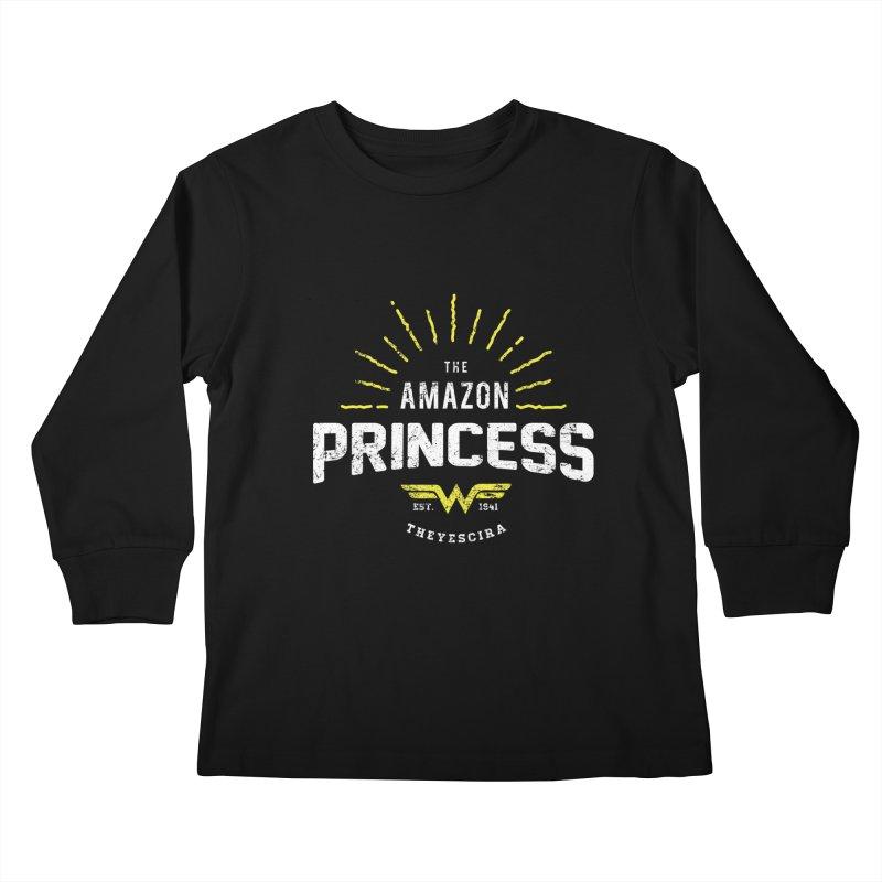 Vintage Amazon Kids Longsleeve T-Shirt by halfcrazy designs