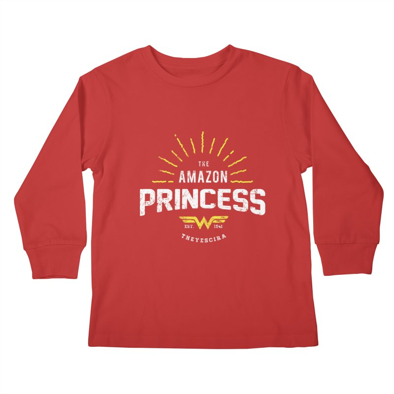 Vintage Amazon Kids Longsleeve T-Shirt by halfcrazy designs