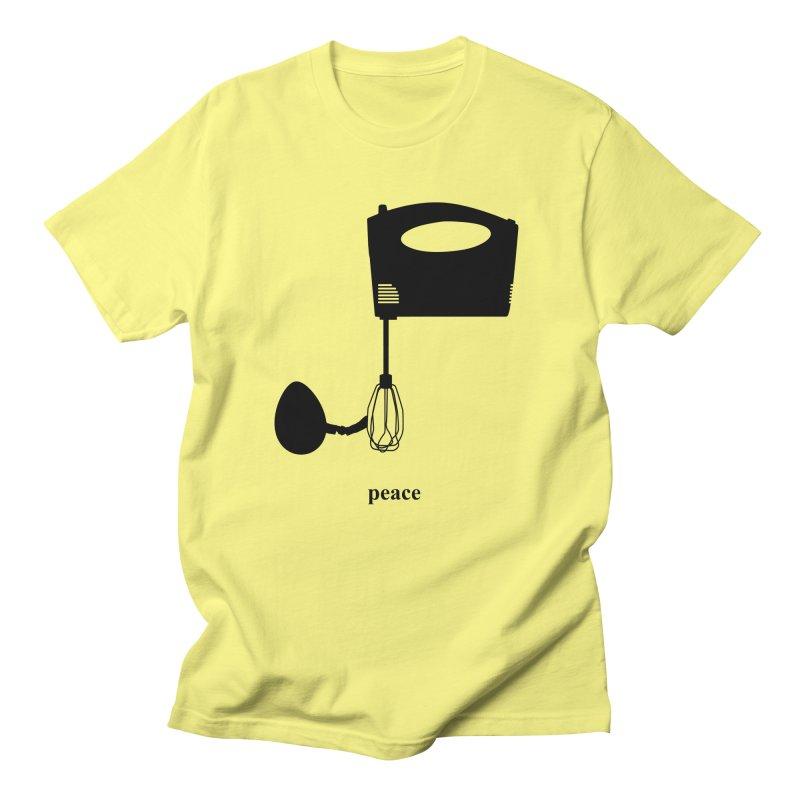 Peace - Egg and Whisk in Men's Regular T-Shirt Lemon by Half Giraffe's Shop