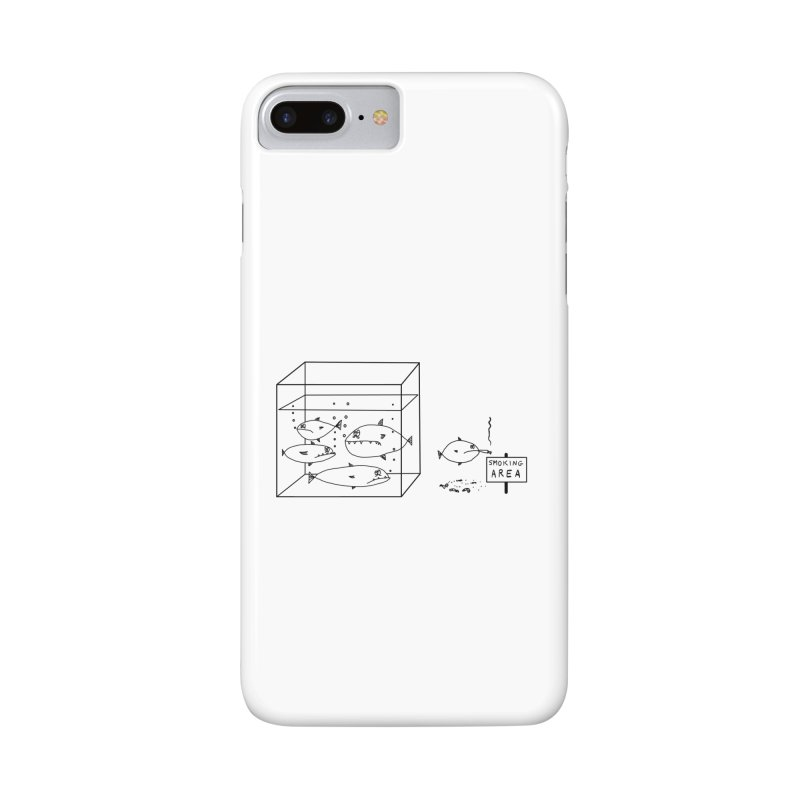 Smoking Fish in iPhone 7 Plus Phone Case Slim by Half Giraffe's Shop