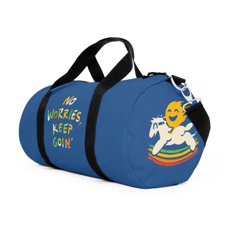 No Prob Accessories Duffel Bag Bag by Kev's Artist Shop