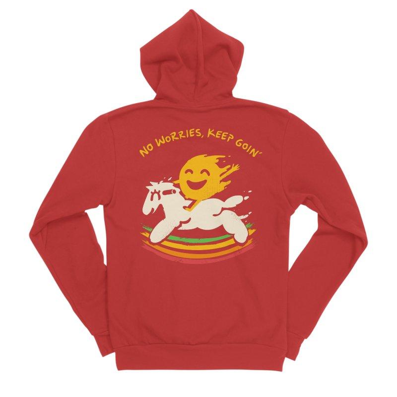 No Prob Men's Sponge Fleece Zip-Up Hoody by Kev's Artist Shop