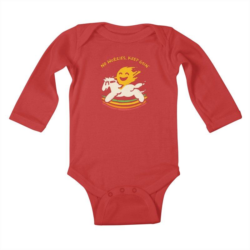 No Prob Kids Baby Longsleeve Bodysuit by Kev's Artist Shop