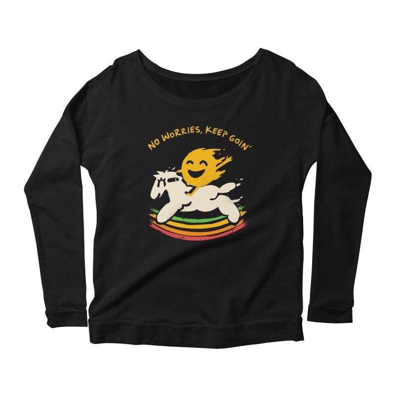 No Prob Women's Scoop Neck Longsleeve T-Shirt by Kev's Artist Shop