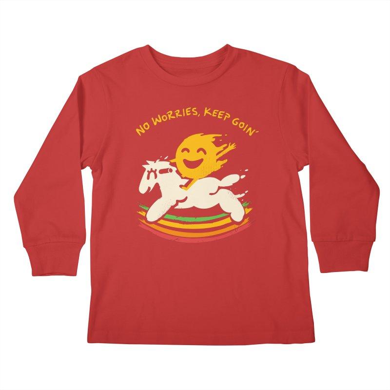 No Prob Kids Longsleeve T-Shirt by Kev's Artist Shop