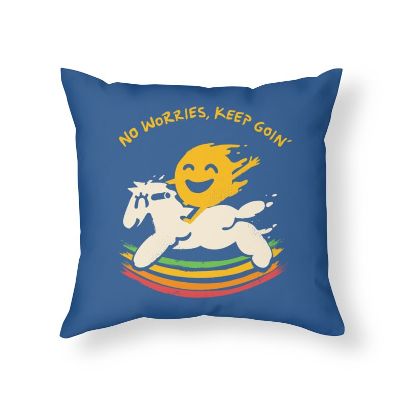 No Prob Home Throw Pillow by Kev's Artist Shop