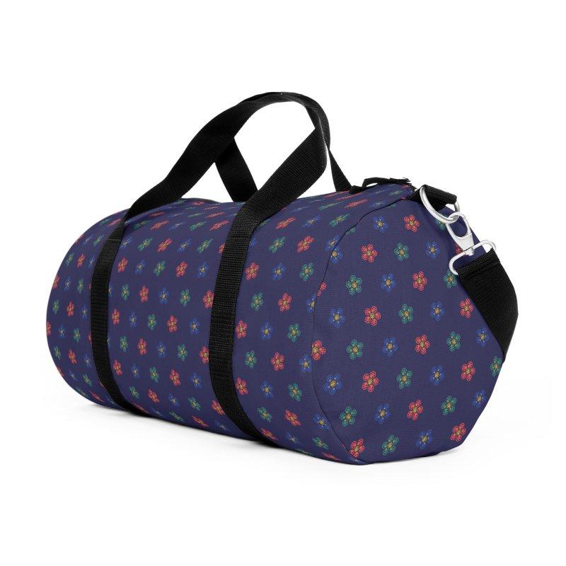 Roses and Guns Accessories Duffel Bag Bag by Kev's Artist Shop