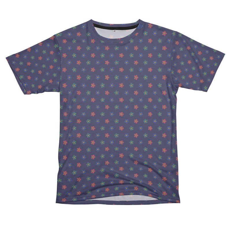 Roses and Guns Women's Unisex French Terry T-Shirt Cut & Sew by Kev's Artist Shop