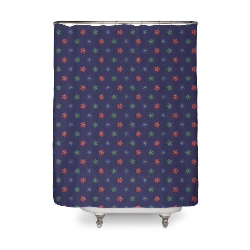 Roses and Guns Home Shower Curtain by Kev's Artist Shop