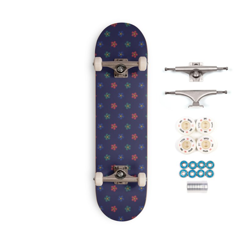 Roses and Guns Accessories Complete - Premium Skateboard by Kev's Artist Shop