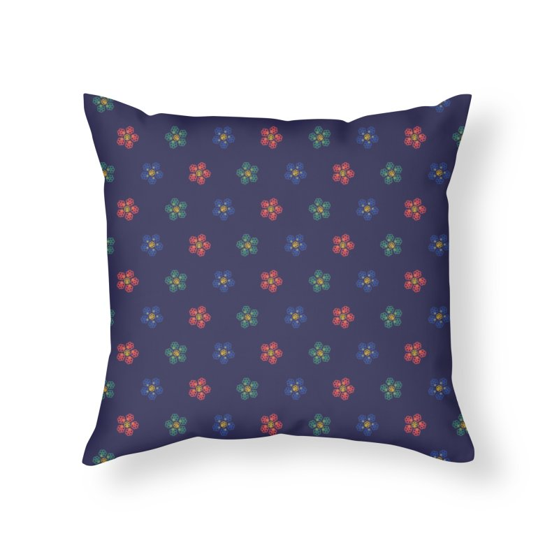 Roses and Guns Home Throw Pillow by Kev's Artist Shop