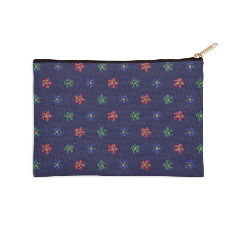 Roses and Guns Accessories Zip Pouch by Kev's Artist Shop