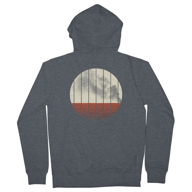 At Ease Men's French Terry Zip-Up Hoody by halfgotten's Artist Shop