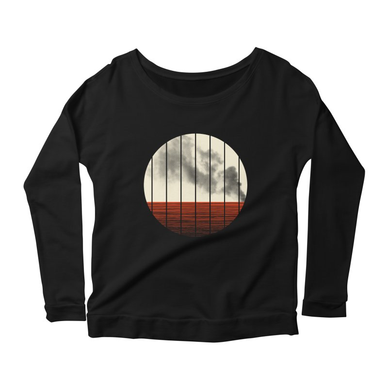 At Ease Women's Longsleeve Scoopneck  by halfgotten's Artist Shop