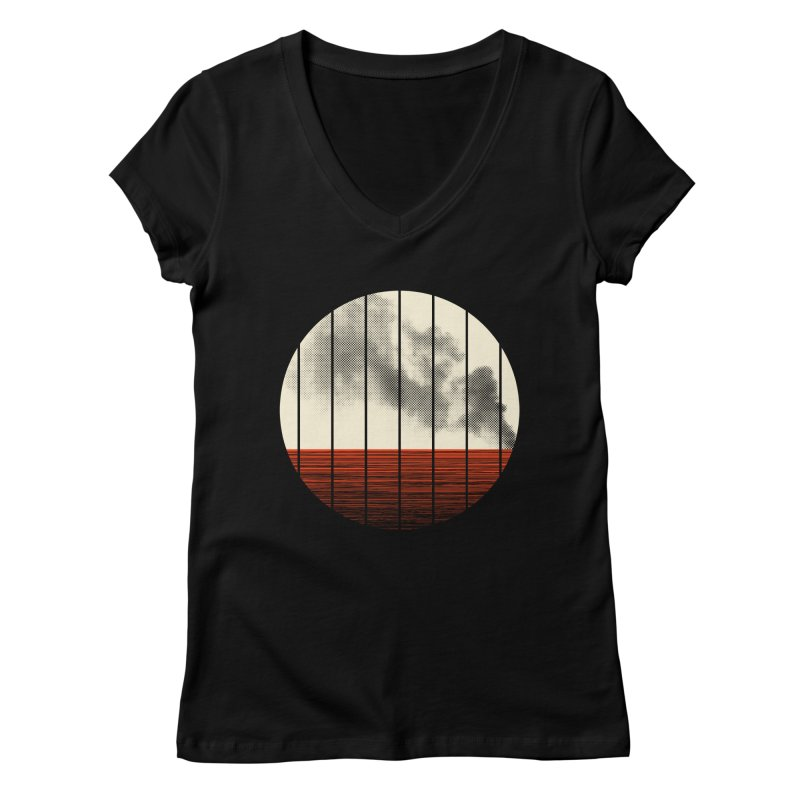 At Ease Women's V-Neck by halfgotten's Artist Shop