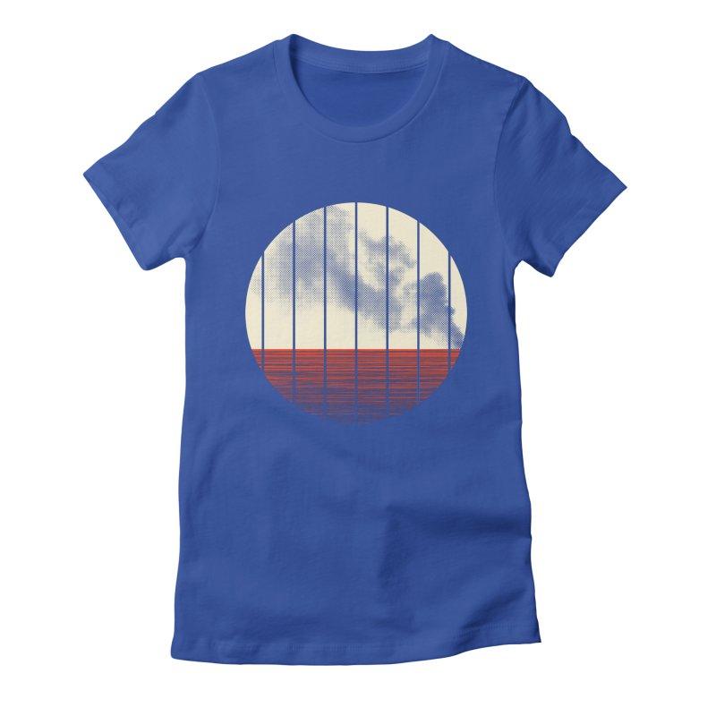 At Ease Women's Fitted T-Shirt by halfgotten's Artist Shop