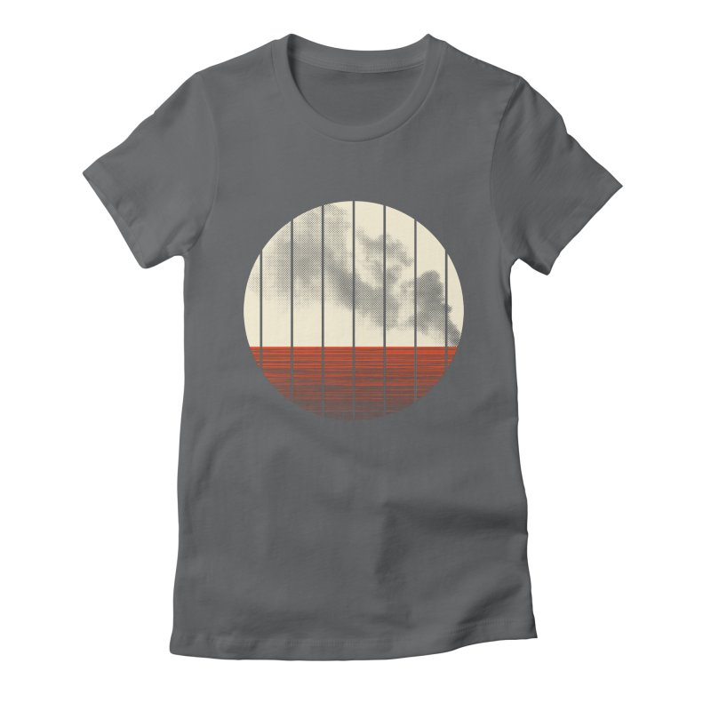 At Ease Women's Fitted T-Shirt by halfgotten's Artist Shop