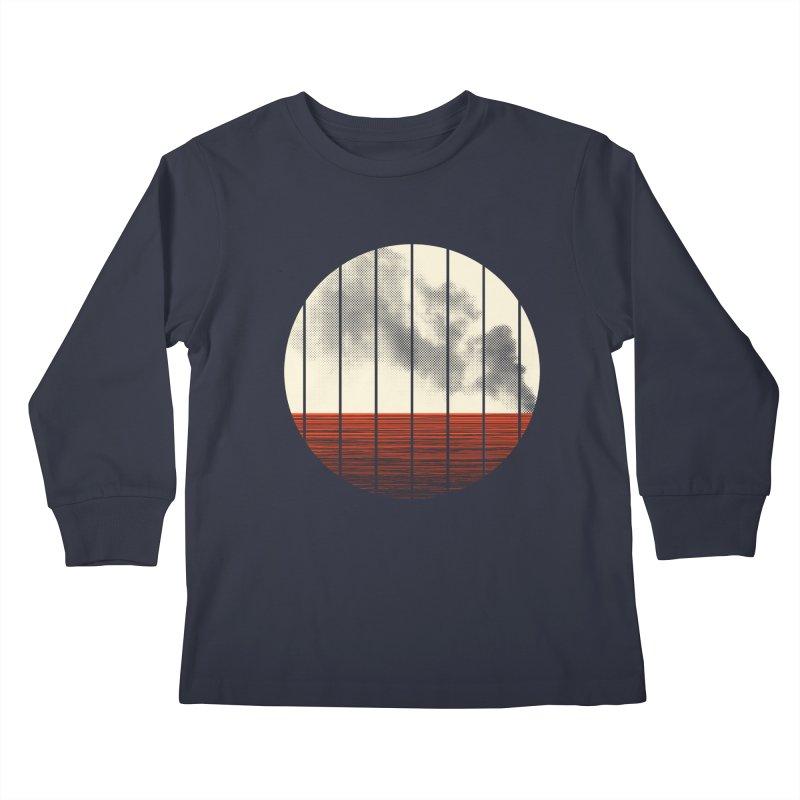 At Ease Kids Longsleeve T-Shirt by halfgotten's Artist Shop