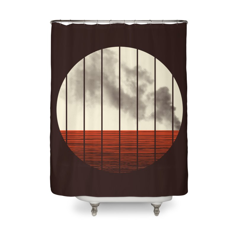 At Ease Home Shower Curtain by halfgotten's Artist Shop