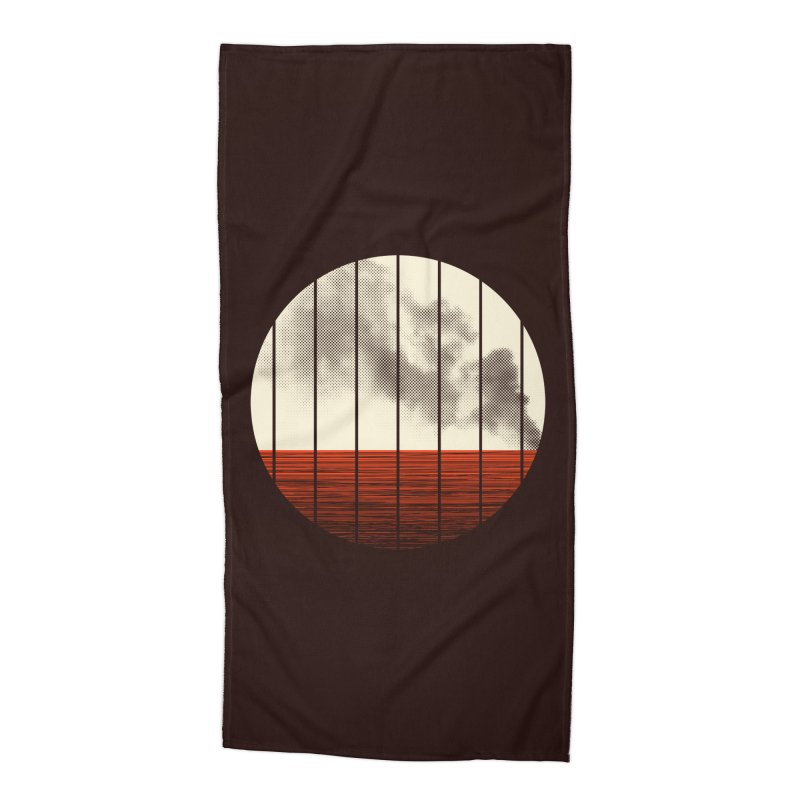At Ease Accessories Beach Towel by halfgotten's Artist Shop
