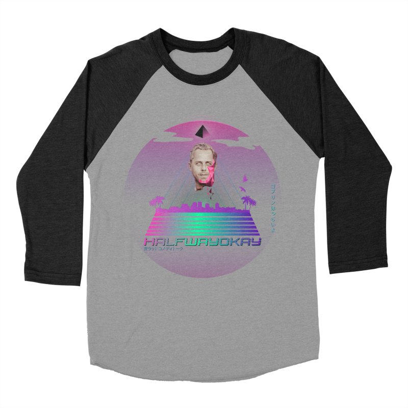 Gio Wave Women's Baseball Triblend Longsleeve T-Shirt by halfwayokay