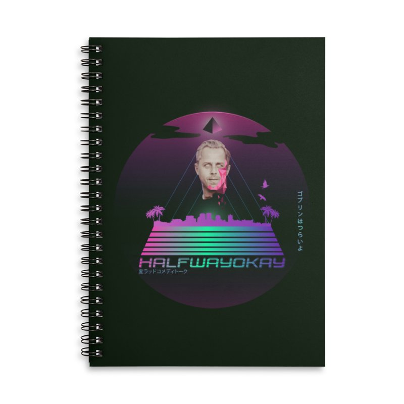 Gio Wave Accessories Lined Spiral Notebook by halfwayokay