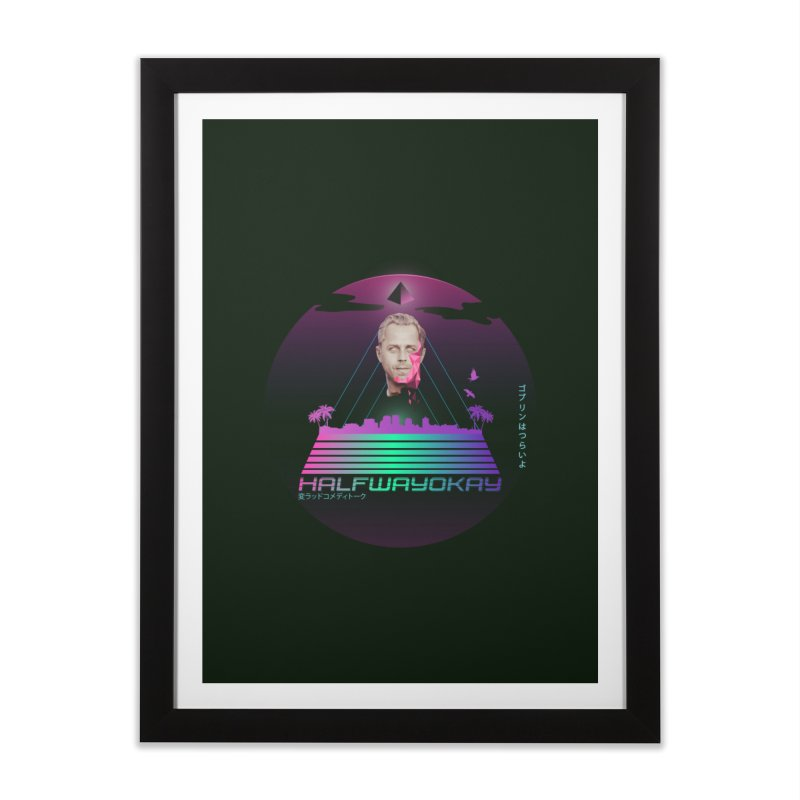 Gio Wave Home Framed Fine Art Print by halfwayokay