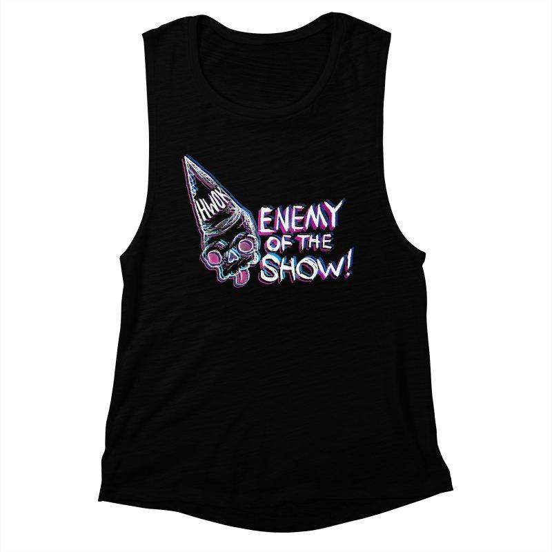 """halfwayokay """"Enemy of the Show"""" Shirt Women's Tank by halfwayokay Spiderweb Store"""