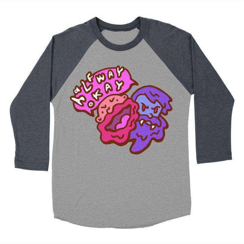 "halfwayokay ""Trash"" Shirt Men's Baseball Triblend Longsleeve T-Shirt by halfwayokay"
