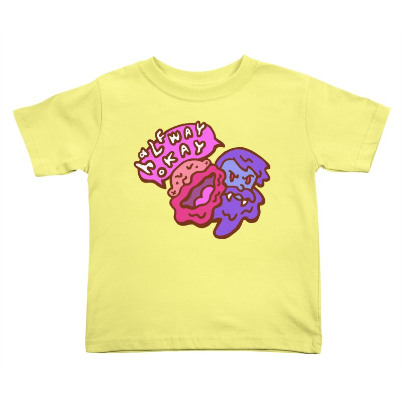 "halfwayokay ""Trash"" Shirt Kids Toddler T-Shirt by halfwayokay"