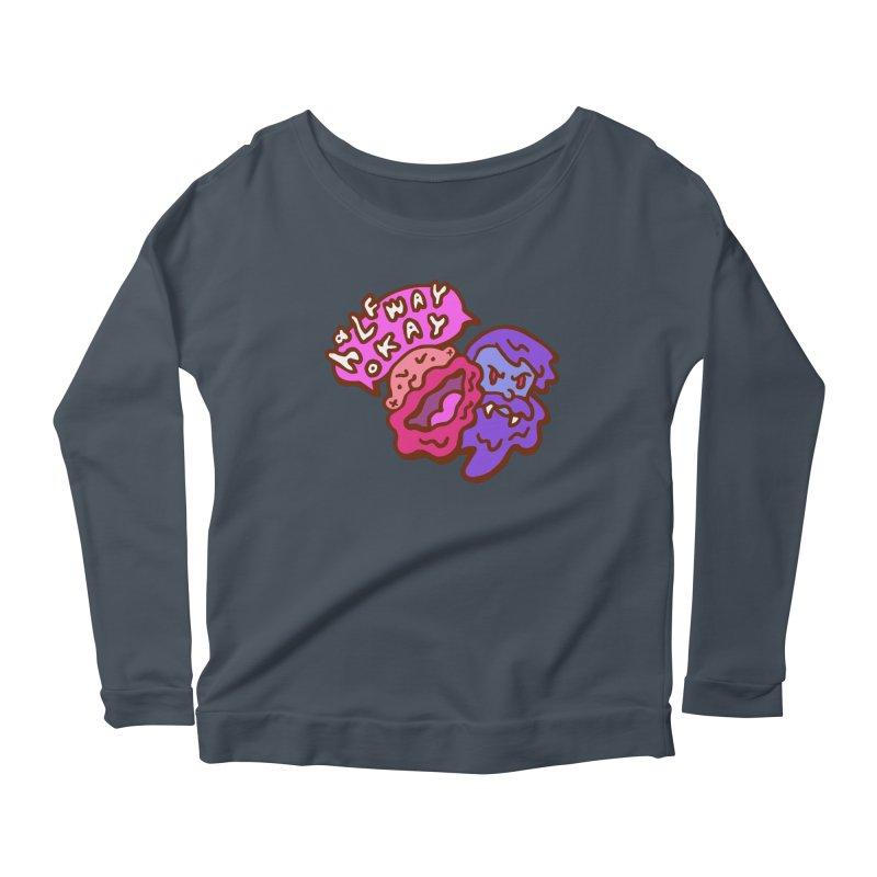 "halfwayokay ""Trash"" Shirt Women's Scoop Neck Longsleeve T-Shirt by halfwayokay"