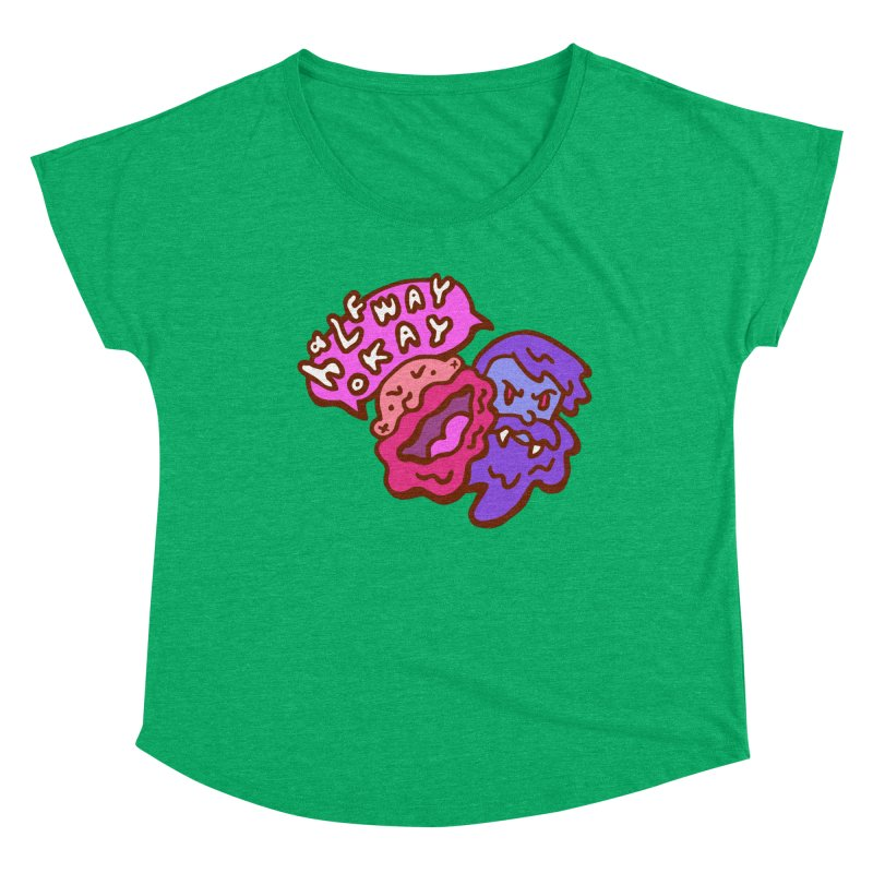 "halfwayokay ""Trash"" Shirt Women's Scoop Neck by halfwayokay Spiderweb Store"