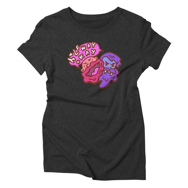 "halfwayokay ""Trash"" Shirt Women's Triblend T-Shirt by halfwayokay"