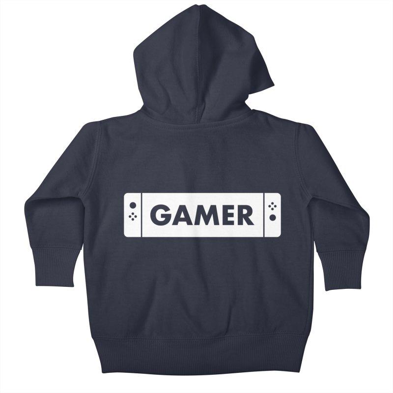 Gamer Shirt Kids Baby Zip-Up Hoody by STRIHS