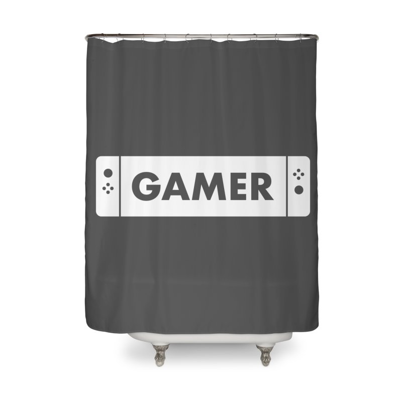 Gamer Shirt Home Shower Curtain by STRIHS