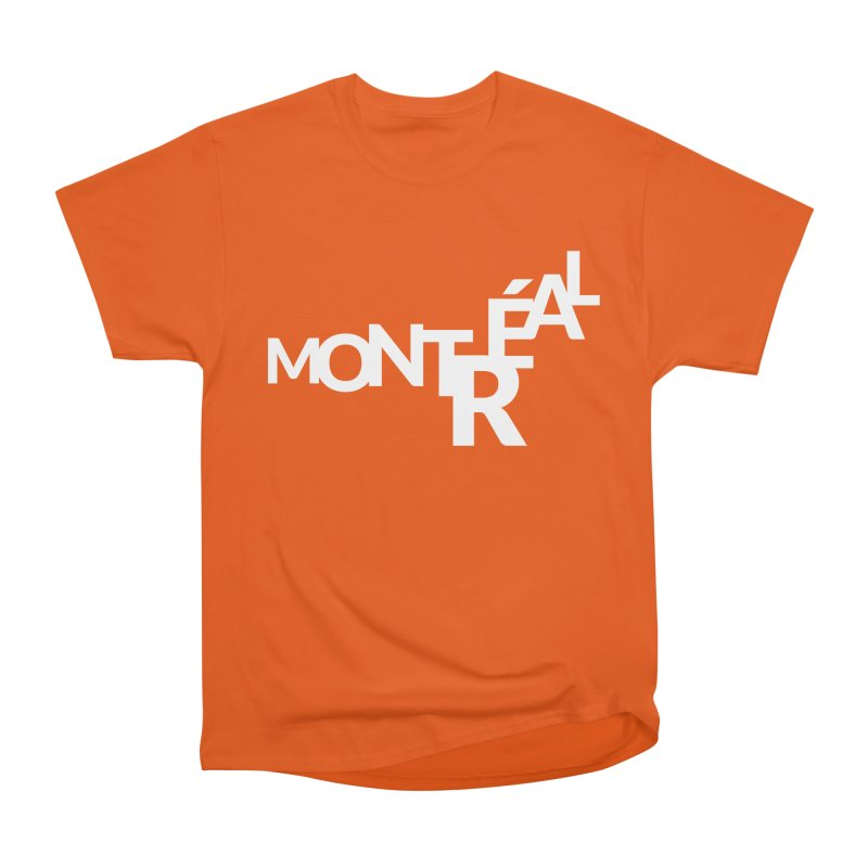 Montreal Island Logo Men's Heavyweight T-Shirt by Shirts by Hal Gatewood