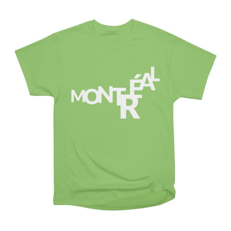 Montreal Island Logo Women's Heavyweight Unisex T-Shirt by Shirts by Hal Gatewood