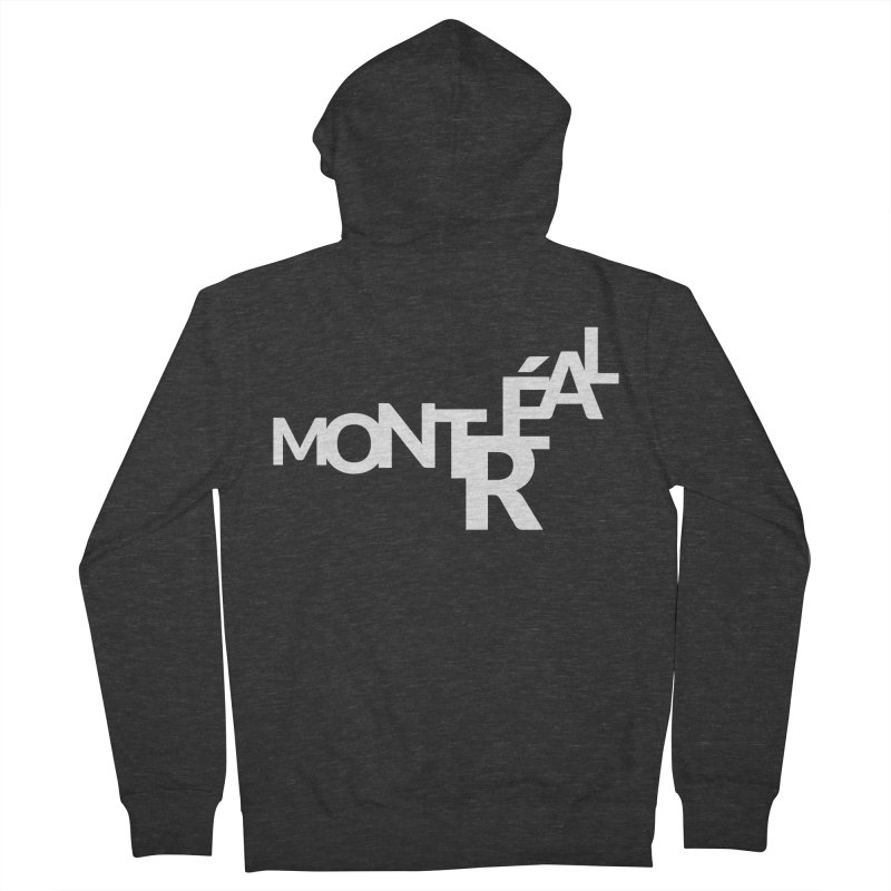 Montreal Island Logo Women's French Terry Zip-Up Hoody by Shirts by Hal Gatewood