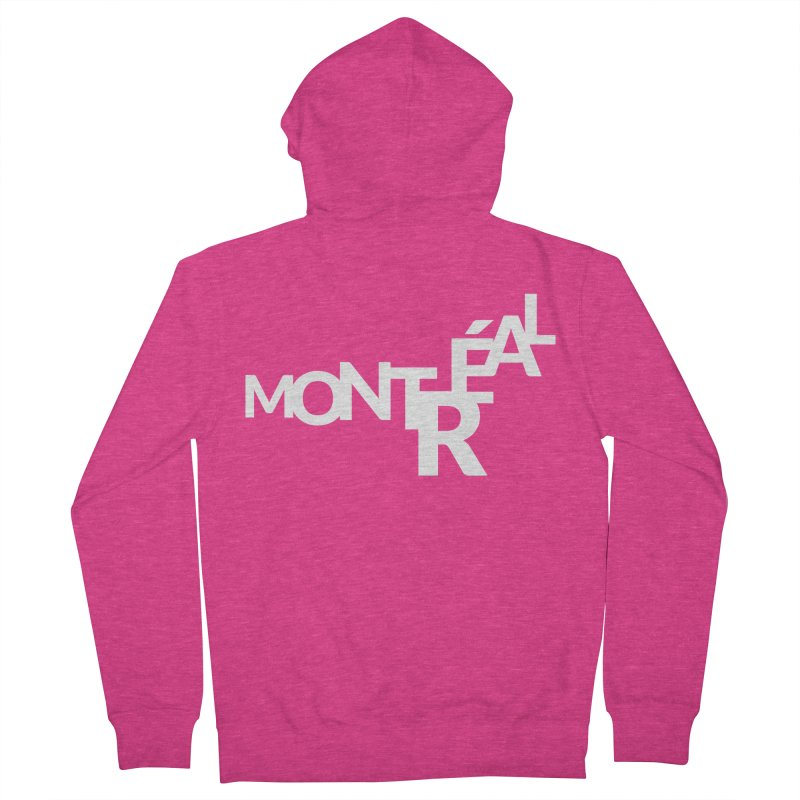 Montreal Island Logo Women's Zip-Up Hoody by Shirts by Hal Gatewood