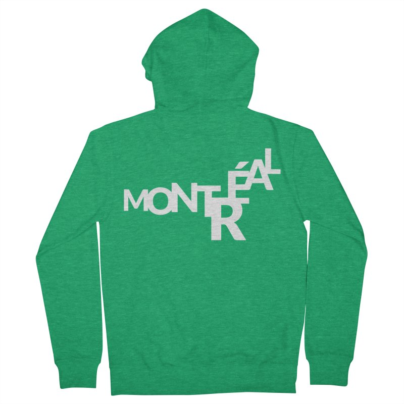 Montreal Island Logo Men's Zip-Up Hoody by STRIHS