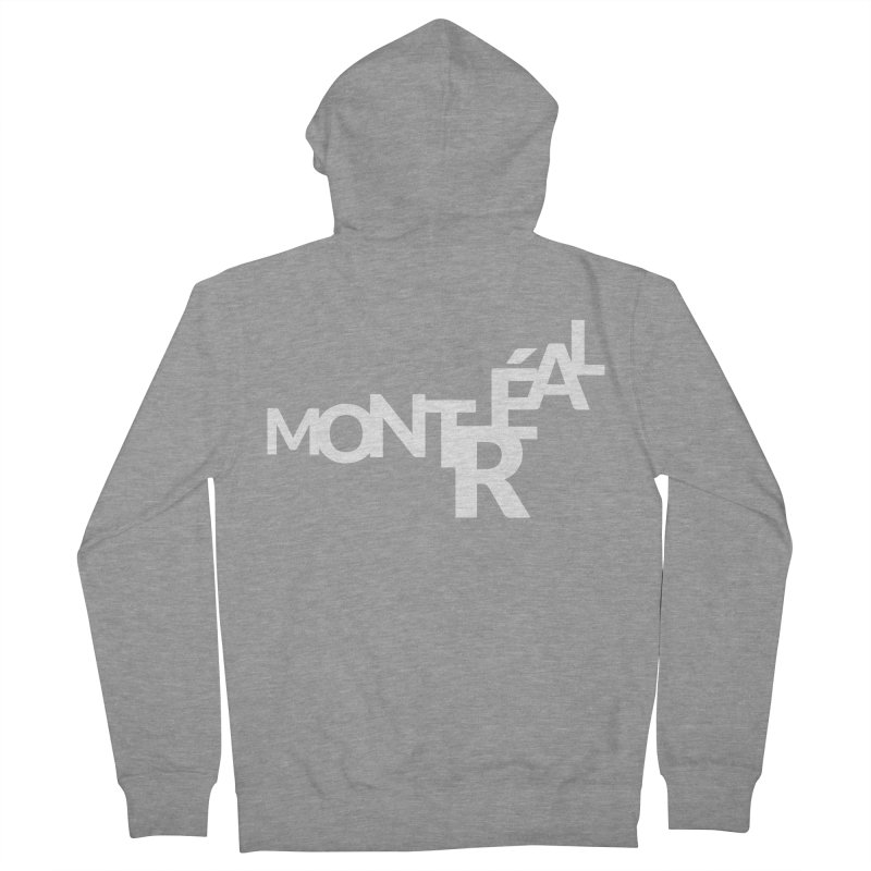 Montreal Island Logo Men's Zip-Up Hoody by Shirts by Hal Gatewood