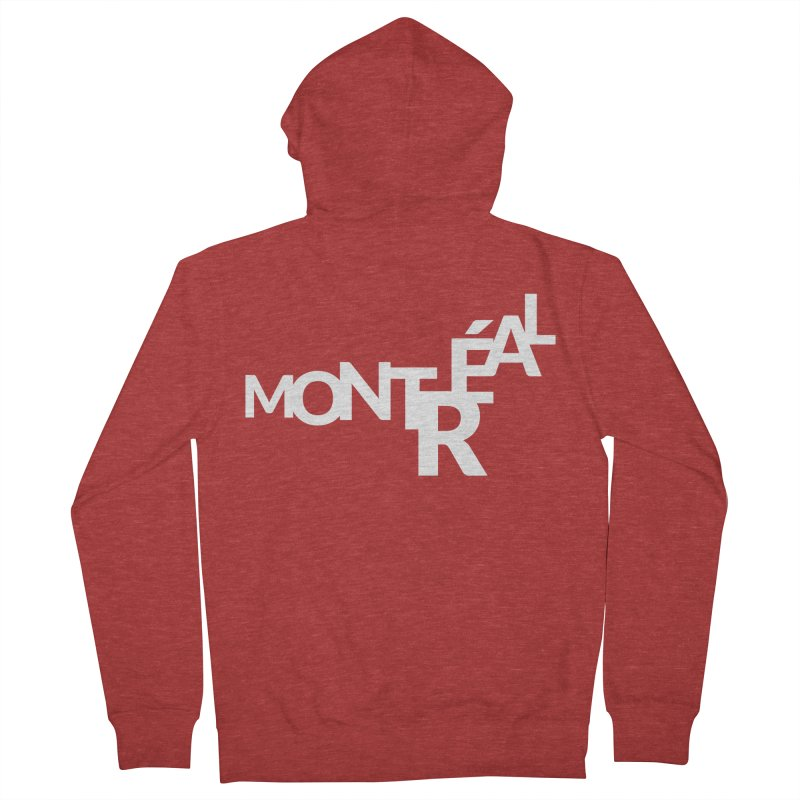 Montreal Island Logo Men's French Terry Zip-Up Hoody by Shirts by Hal Gatewood