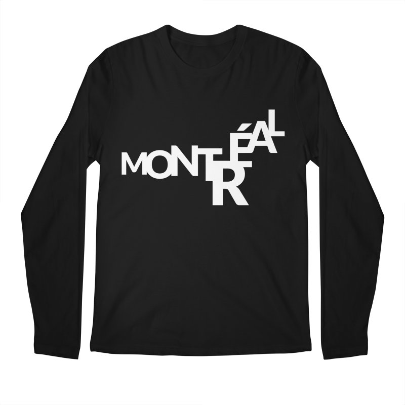 Montreal Island Logo Men's Regular Longsleeve T-Shirt by Shirts by Hal Gatewood