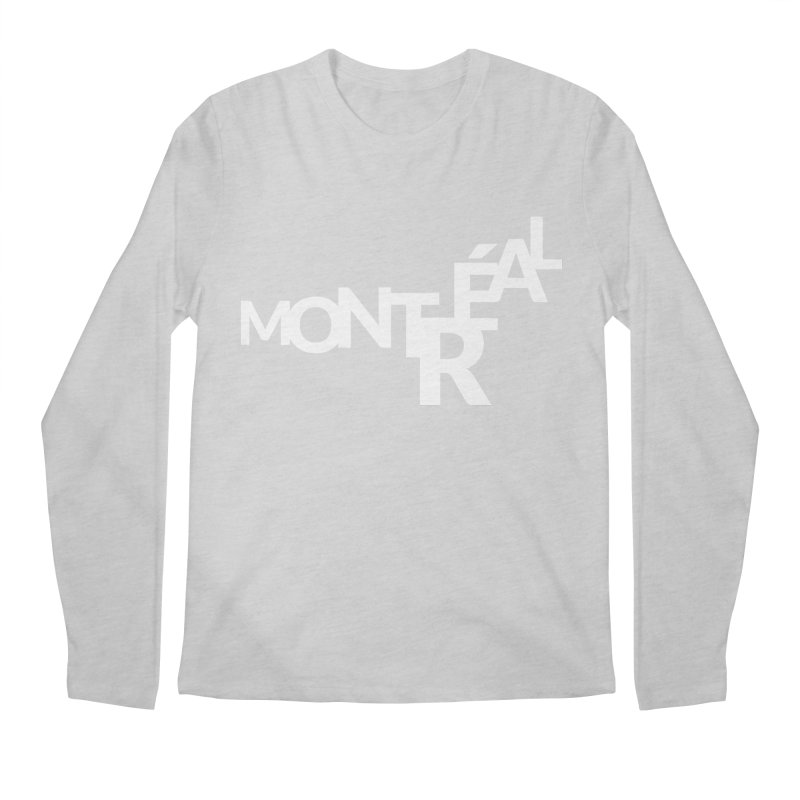 Montreal Island Logo Men's Longsleeve T-Shirt by Shirts by Hal Gatewood