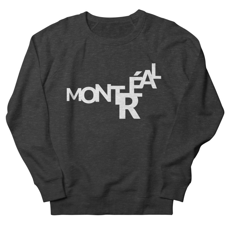 Montreal Island Logo Men's French Terry Sweatshirt by Shirts by Hal Gatewood