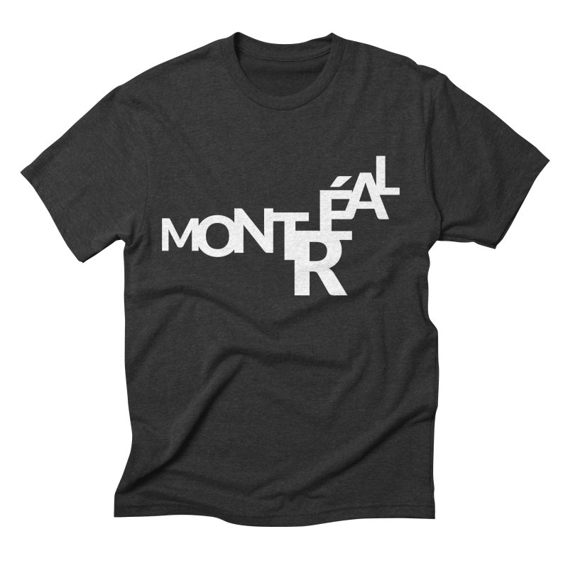 Montreal Island Logo Men's Triblend T-Shirt by Shirts by Hal Gatewood