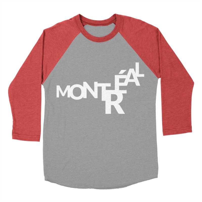 Montreal Island Logo Women's Baseball Triblend T-Shirt by Shirts by Hal Gatewood